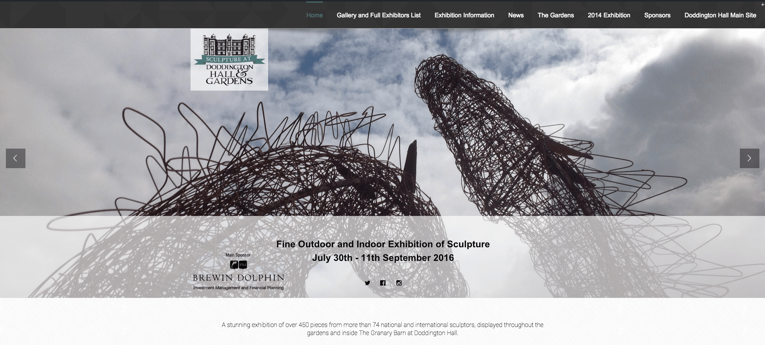 Sculpture at Doddington Hall Website Launches