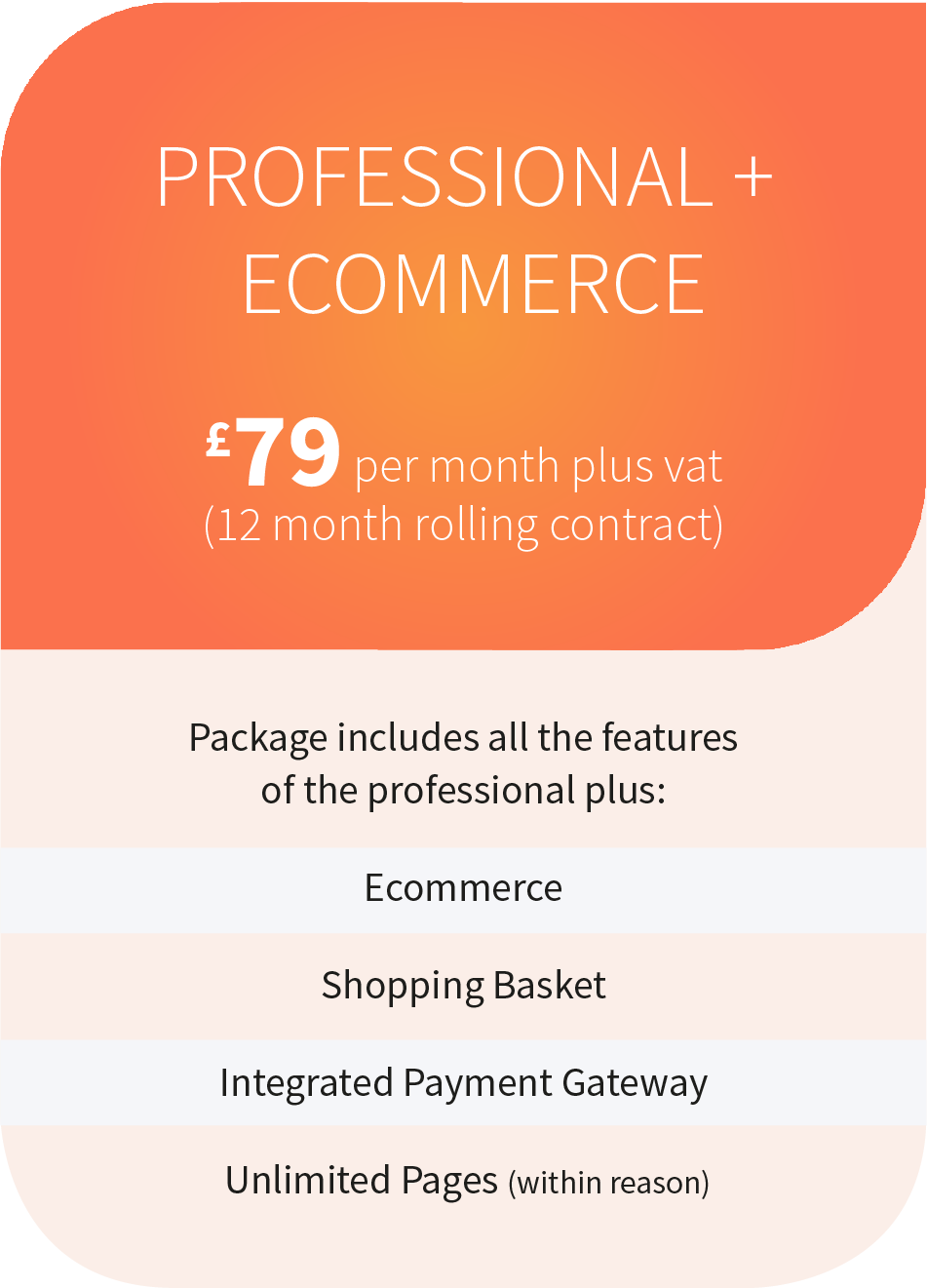 Professional & Ecommerce Add On Package